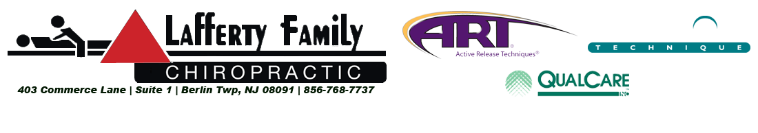 Lafferty Family Chiropractor ART certified in New Jersey, qualcare provider, Graston Technique
